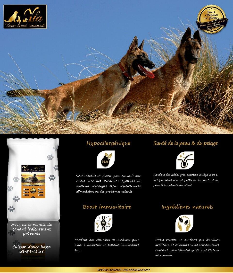croquettes-sans-cereale-naturelles-hypoallergeniques-chiens-grande-race-au-canard